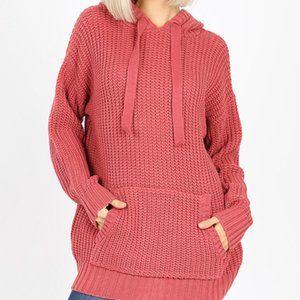 Hooded Heavy Sweater w/ Kangaroo Pockets.